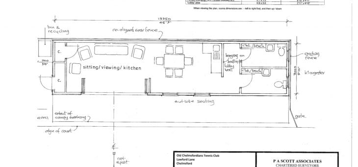 Finalised Plan for the Pavilion