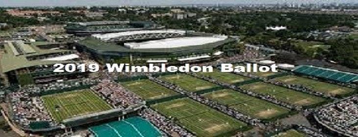 2019 Wimbledon Ballot