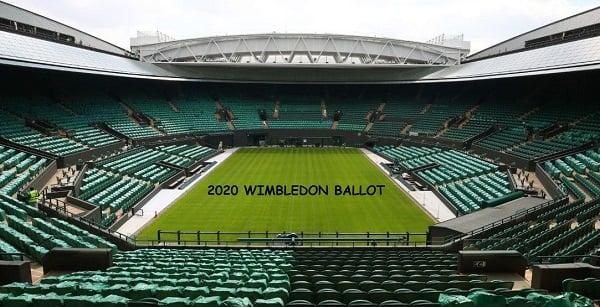 2020 Wimbledon Ballot